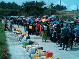 Queuing for kerosene in Calabar