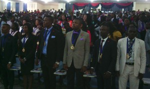 UNICAL Graduating Medical Lab Scientists earlier today in Calabar