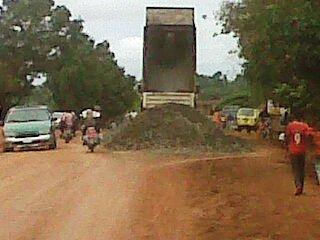 Ongoing rehabilitation work along Ogoja road in Obudu