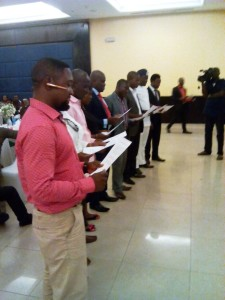 Swearing in of the State Exco and Chapter Coordinators of the National PDP Councilors Forum in Calabar
