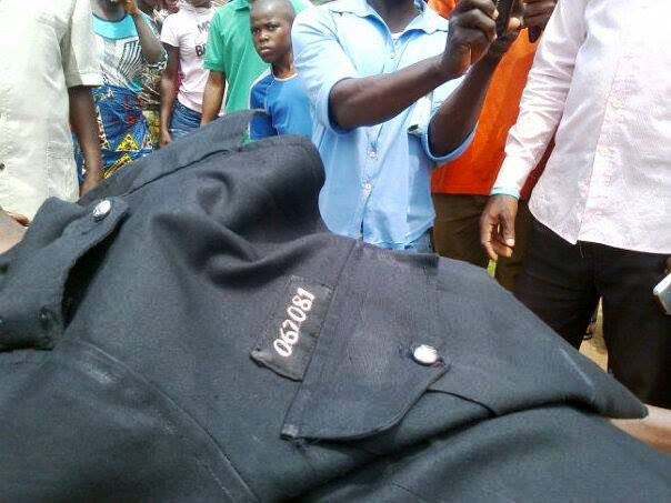 The force number on the uniform of the killed police robber