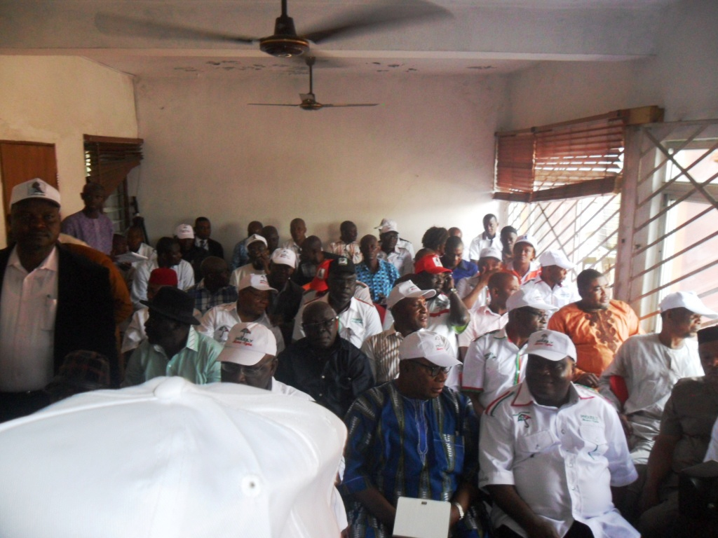 Dr. Sandy Onor, DG, Jedy Agba Campaign Organization seated in front with other supporters at the occasion