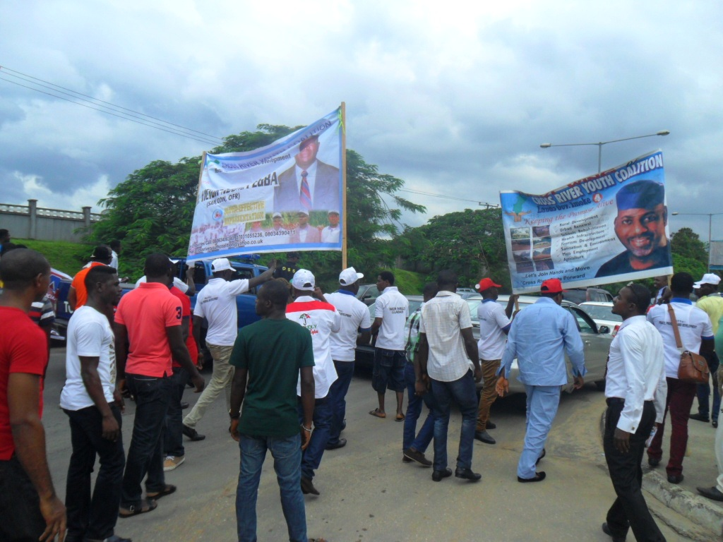 Supporters of Ndoma Egba