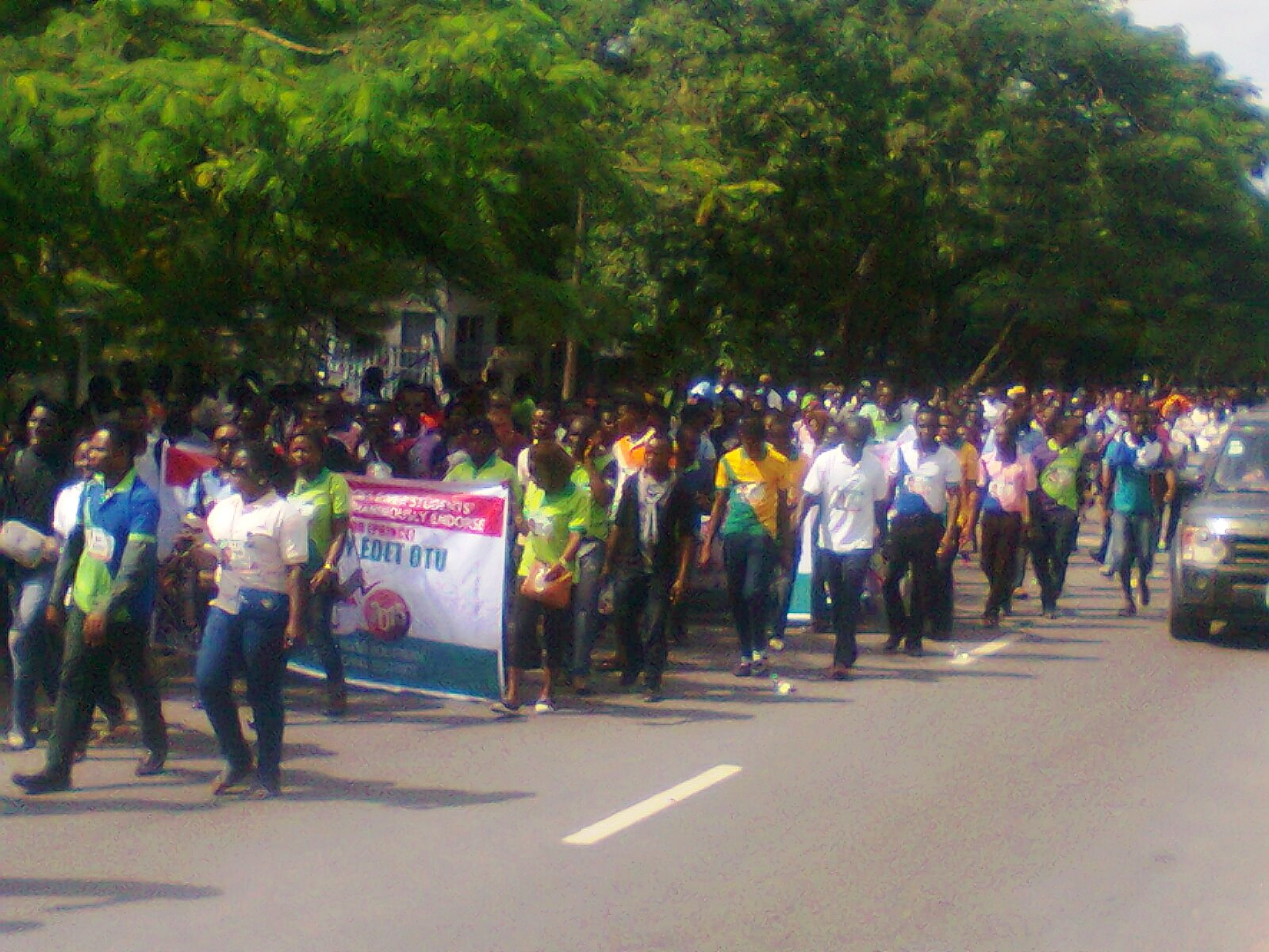 Southern Cross River Students protesting in support of Senator Otu