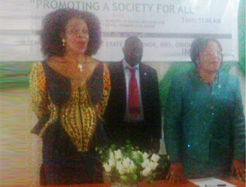 Cross River First Lady, Obioma Liyel Imoke at the program
