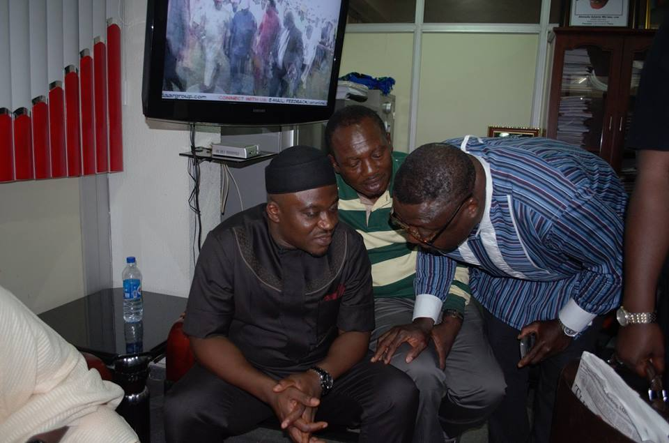Legor Idagbo and Tony Undiandeye, former Chairman, Obudu LGA at Wadata House