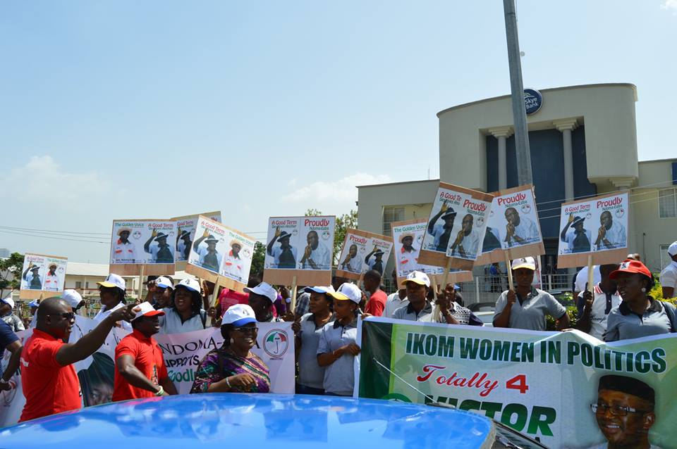 Supporters of Senator Ndoma Egba SAN