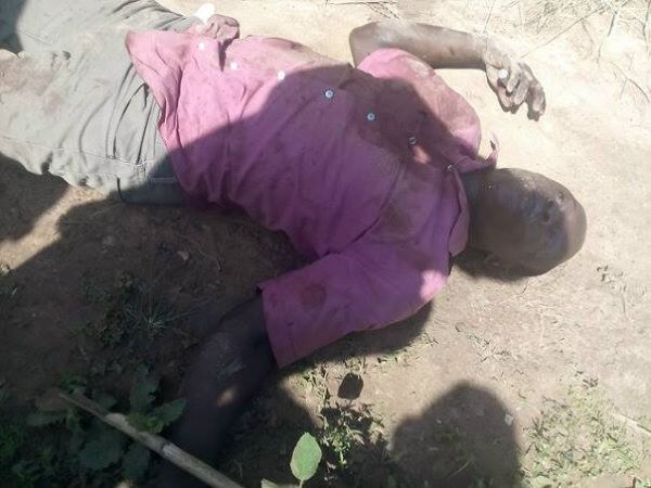 The late alleged robber (photo credit: Emmanuel Akwagiobe)
