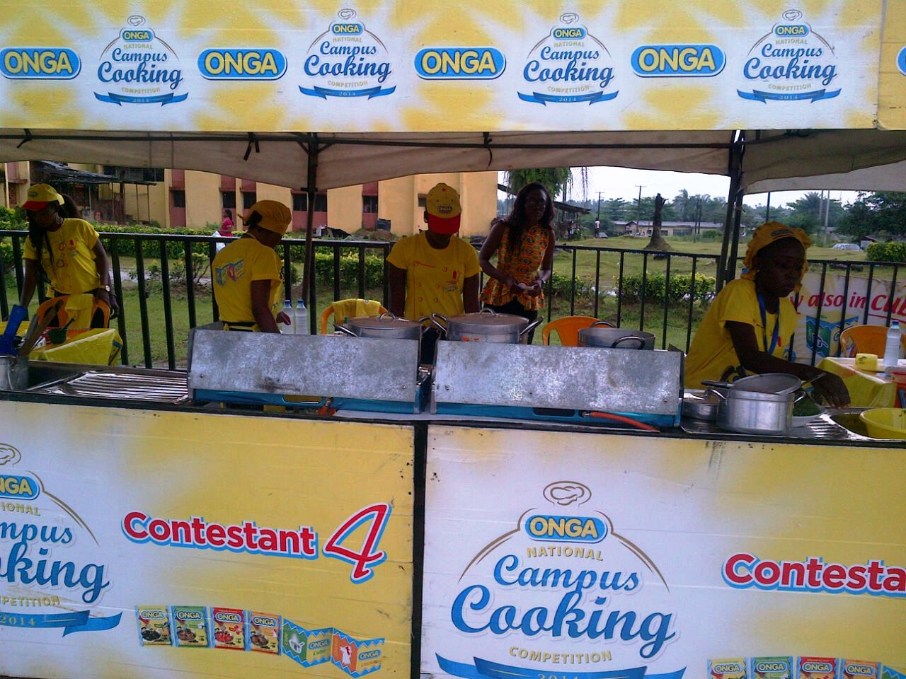 Contestants displaying their culinary skills