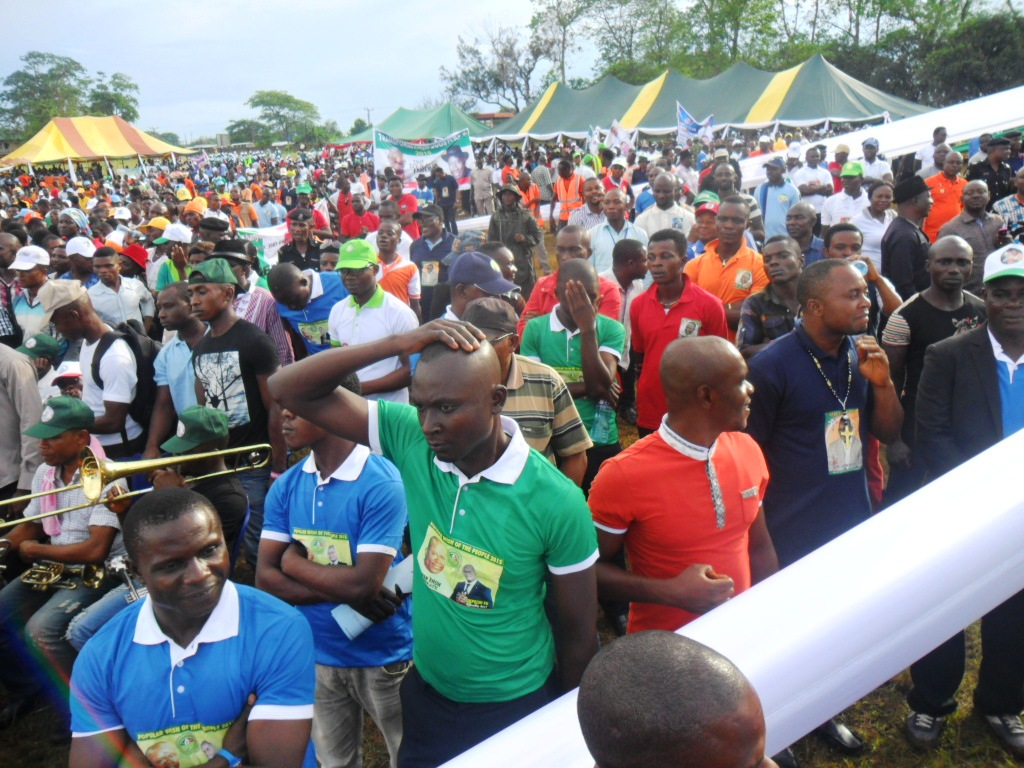 Supporters at the declaration ceremony