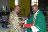 Deputy Vice Chancellor of UNICAL receiving the award on behalf of the VC