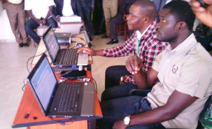 IT professionals monitoring the voting exercise