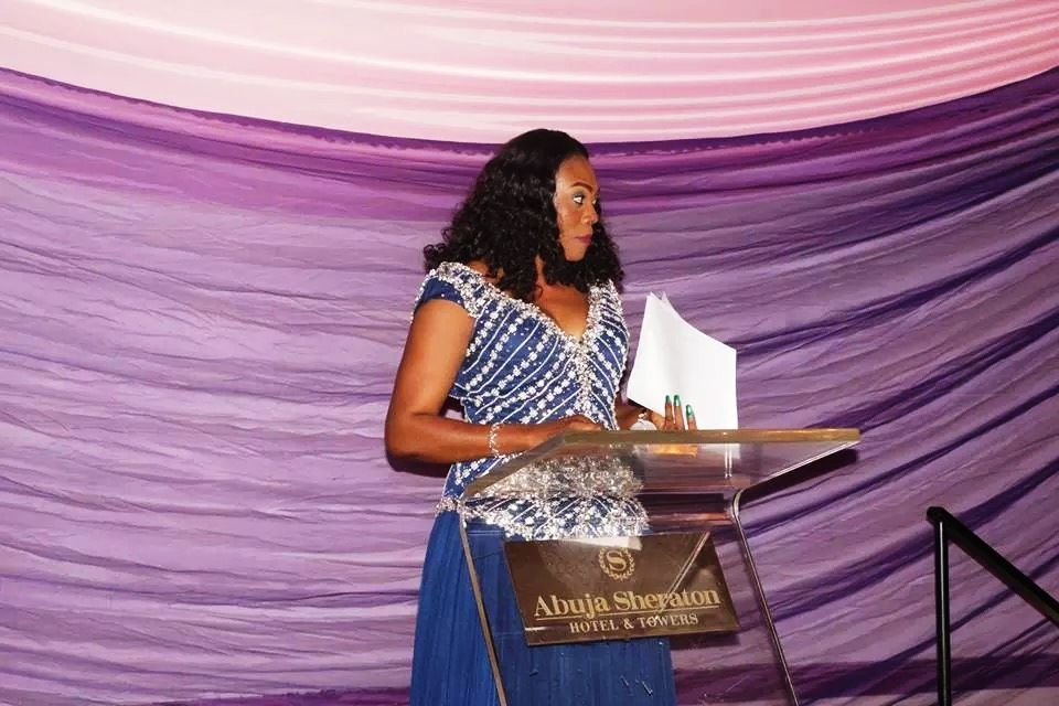 Ms. Theresa Udie, Founder, Wipe A Tear Today Initiative (WATTI) speaking at the event