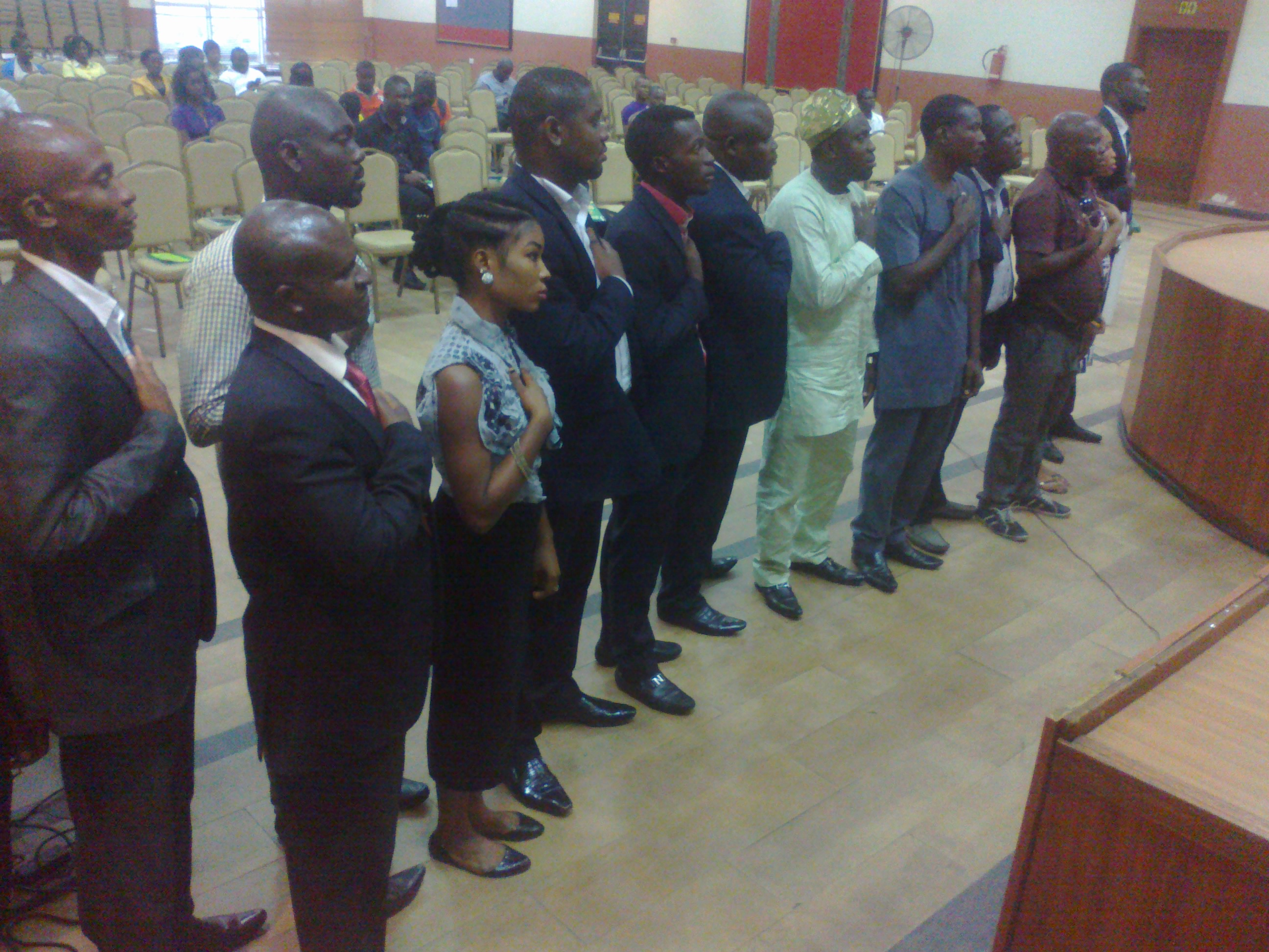 Nigeria Youth Asembly Exo taking oath of office
