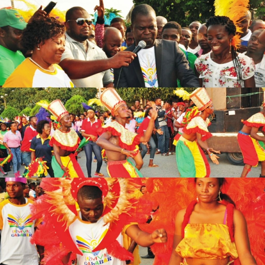 CRUTECH VC  declaring the carnival open (pix above) (below) students dancing