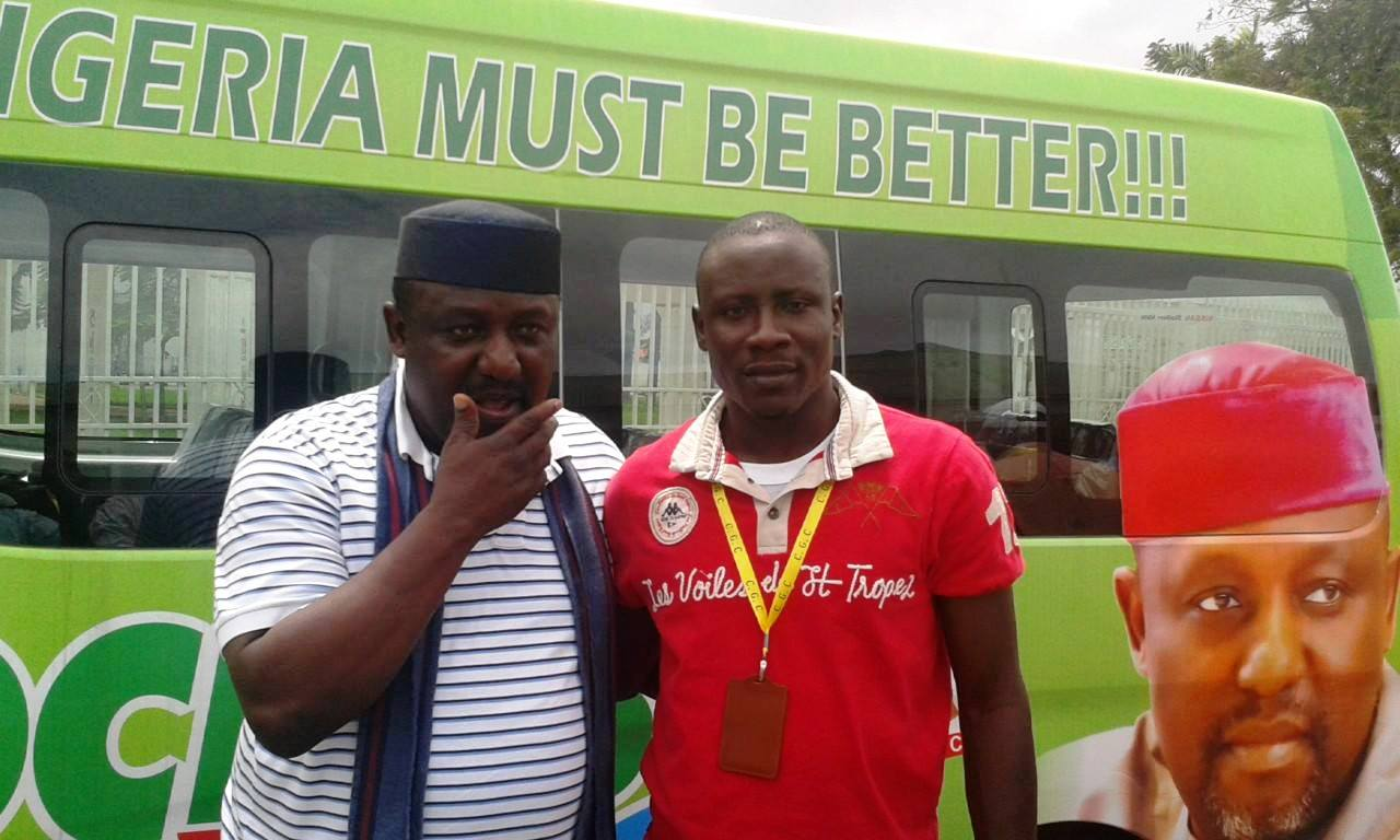 Governor Rochas Okorocha of Imo State and the Cross River State All Progressives Congress (APC), Youth Leader, Comrade Nathaniel Effiom Otu