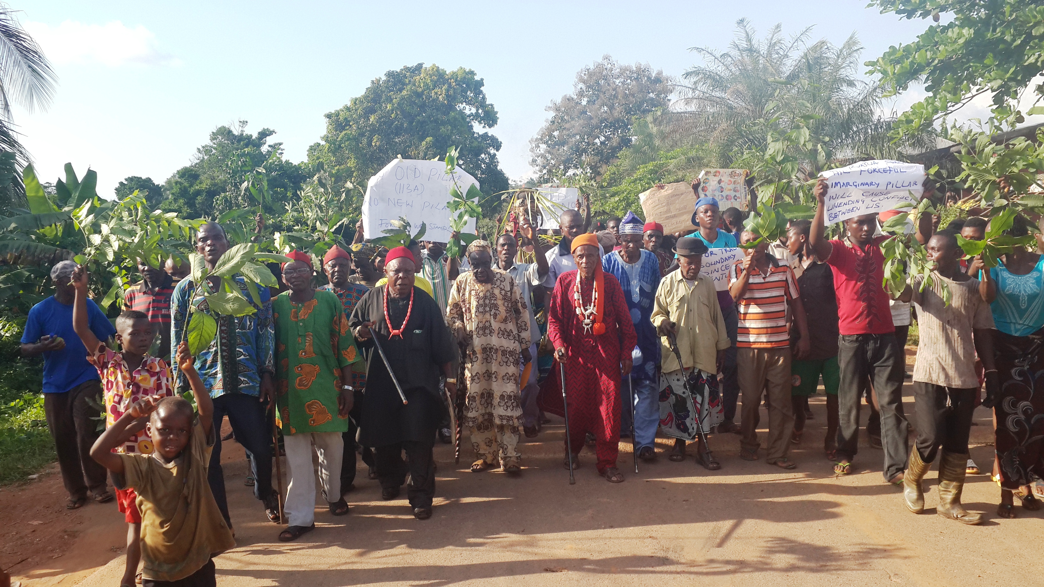 90 year old village head leading Danare people in protest