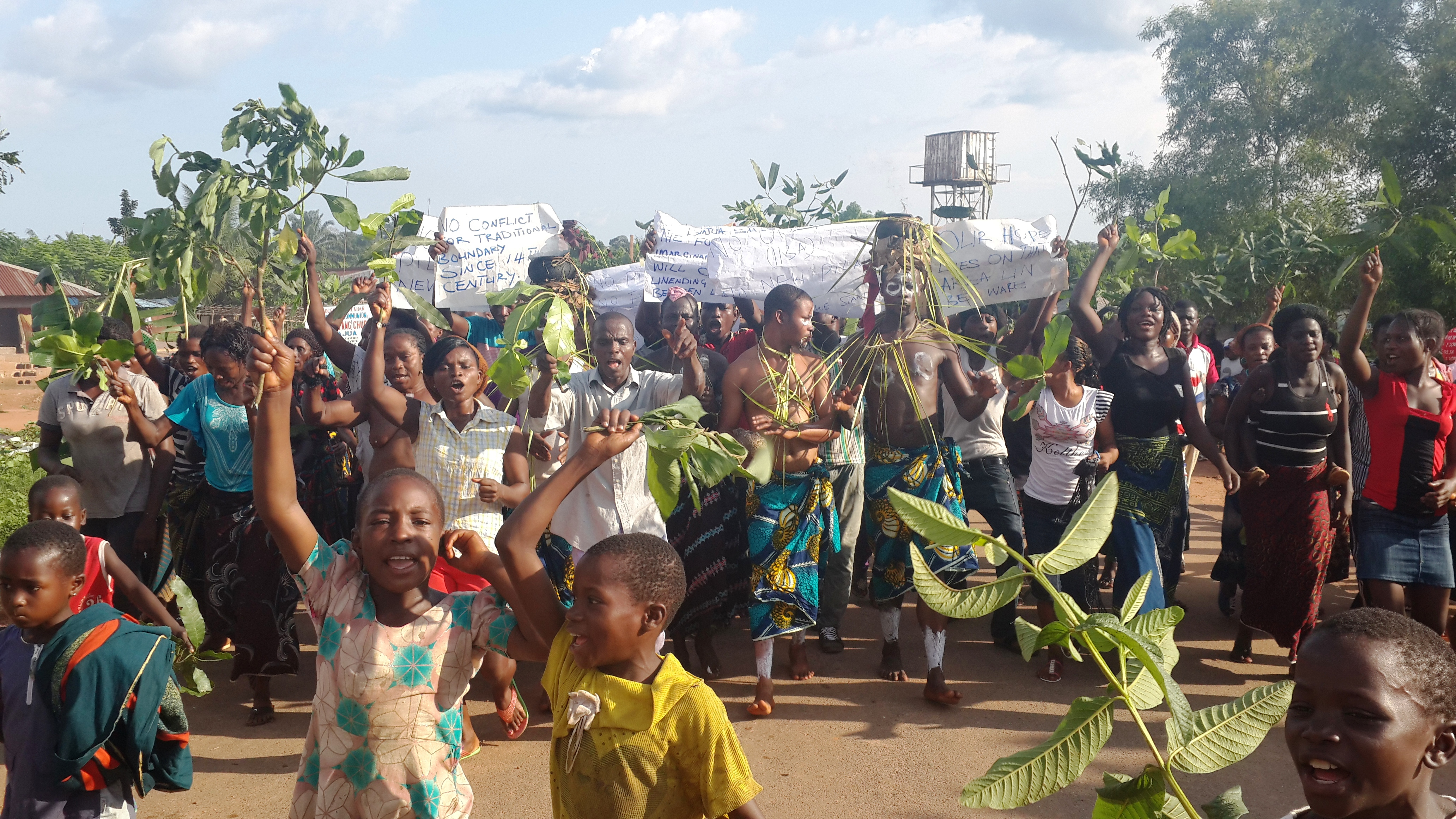 Even the Danare children were not left out of the protest to save their land