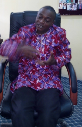 Dr. Columba Apeh while talking to CrossRiverWatch