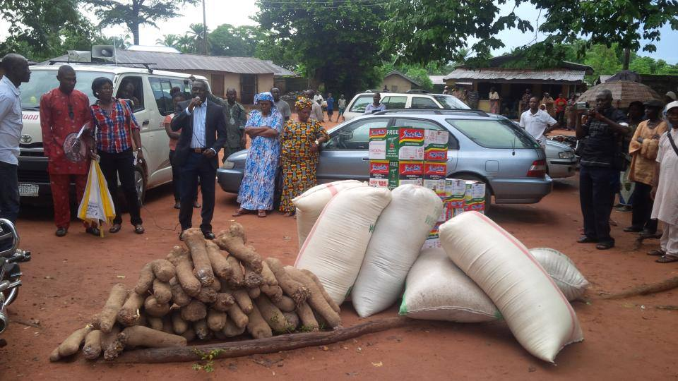file picture from Ayade food bank program