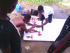 Students slaughtering a goat at Malabor for the party