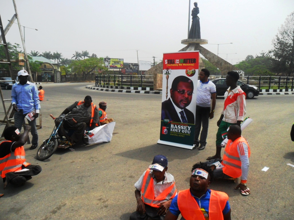 Cross section of the physically challenged men campaigning for Prince Bassey Otu in Calabar