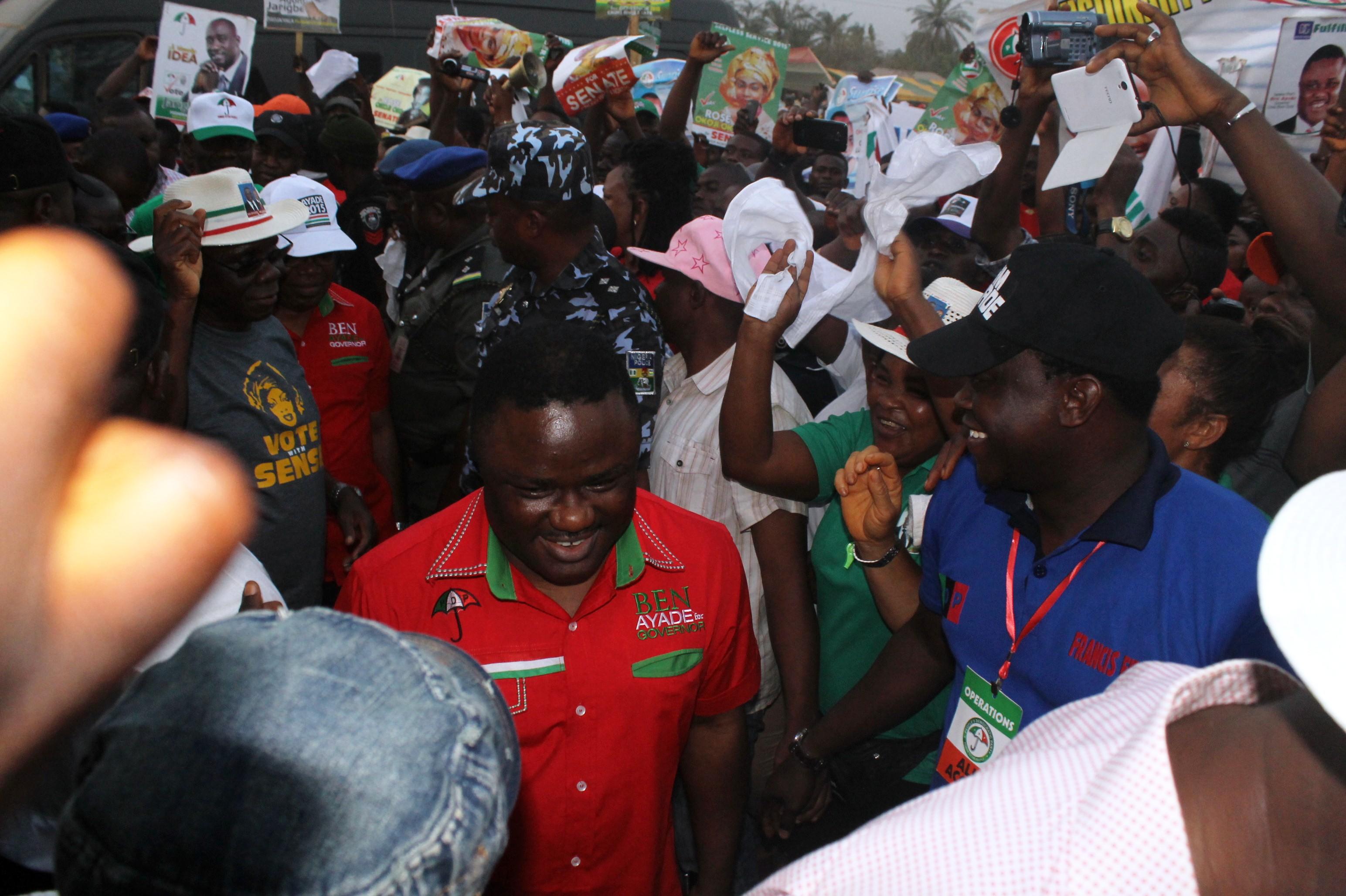 Senator Ayade arriving the campaign venue