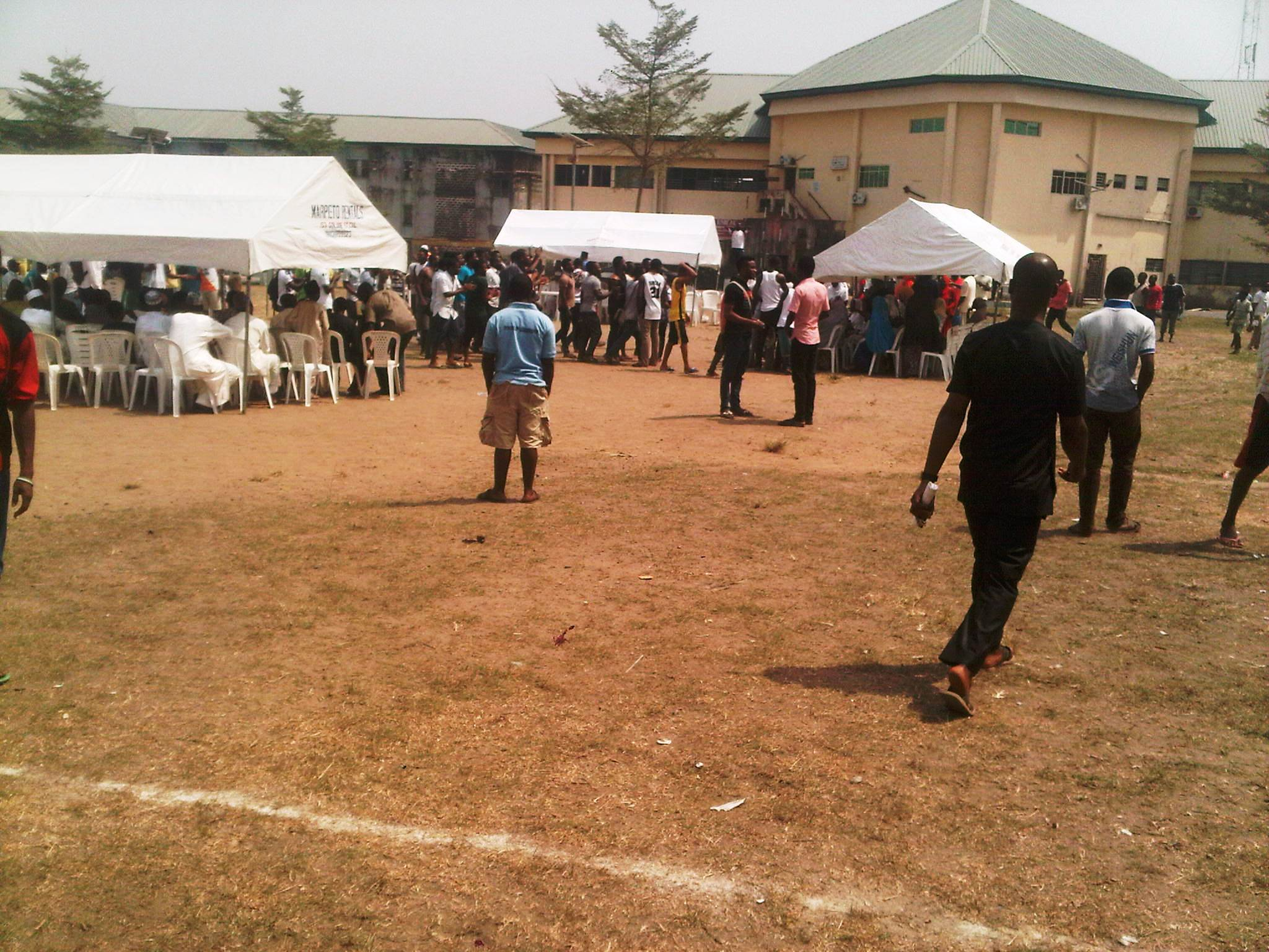 Cross section of students at the event that was disrupted