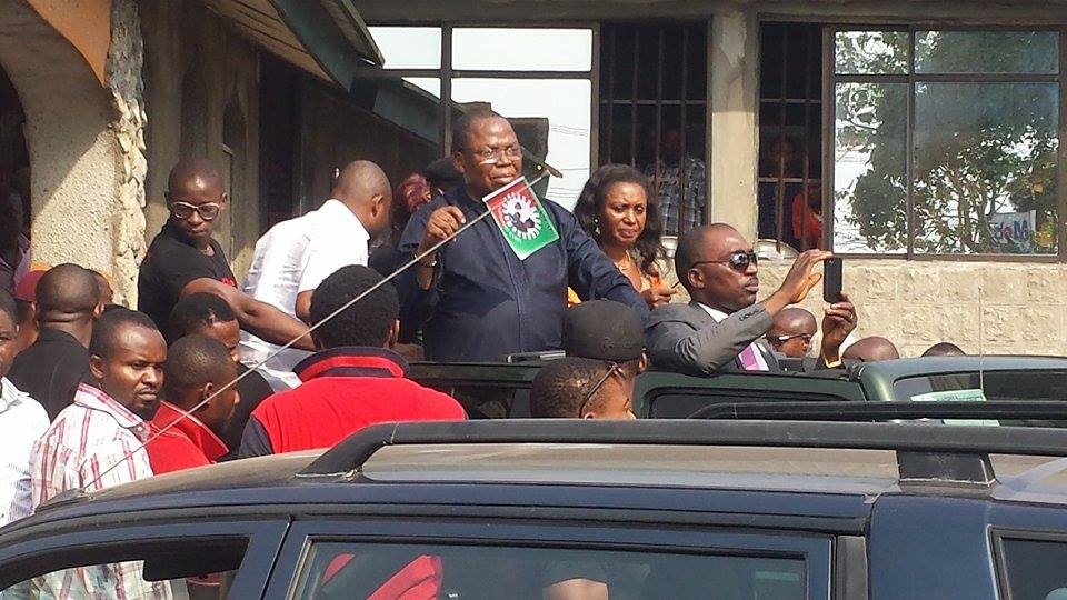 Ntufam Fidelis Ugbo, declaring for Labour Party in Calabar