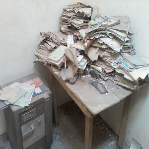 files destroyed by rain