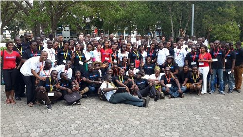 Attendees at the TechCamp 2015 in Accra, Ghana