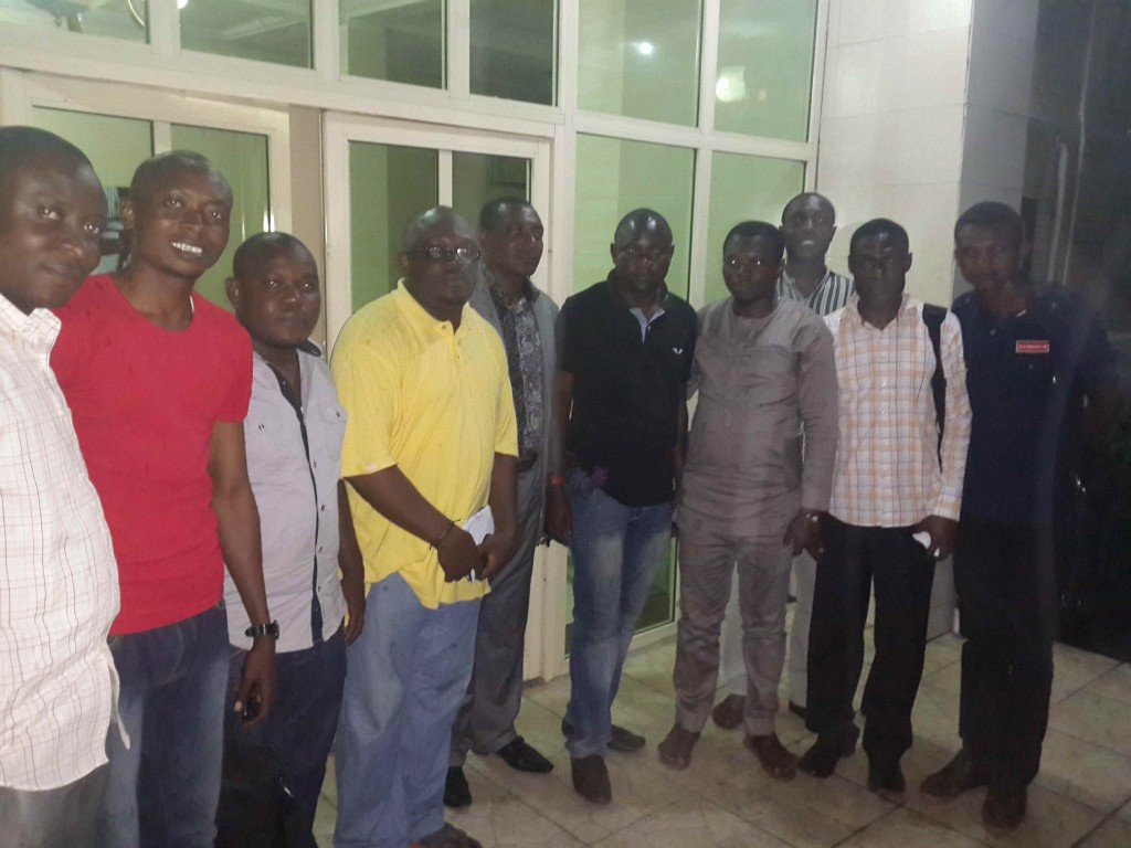 Some members of ACROJ after a meeting in Calabar