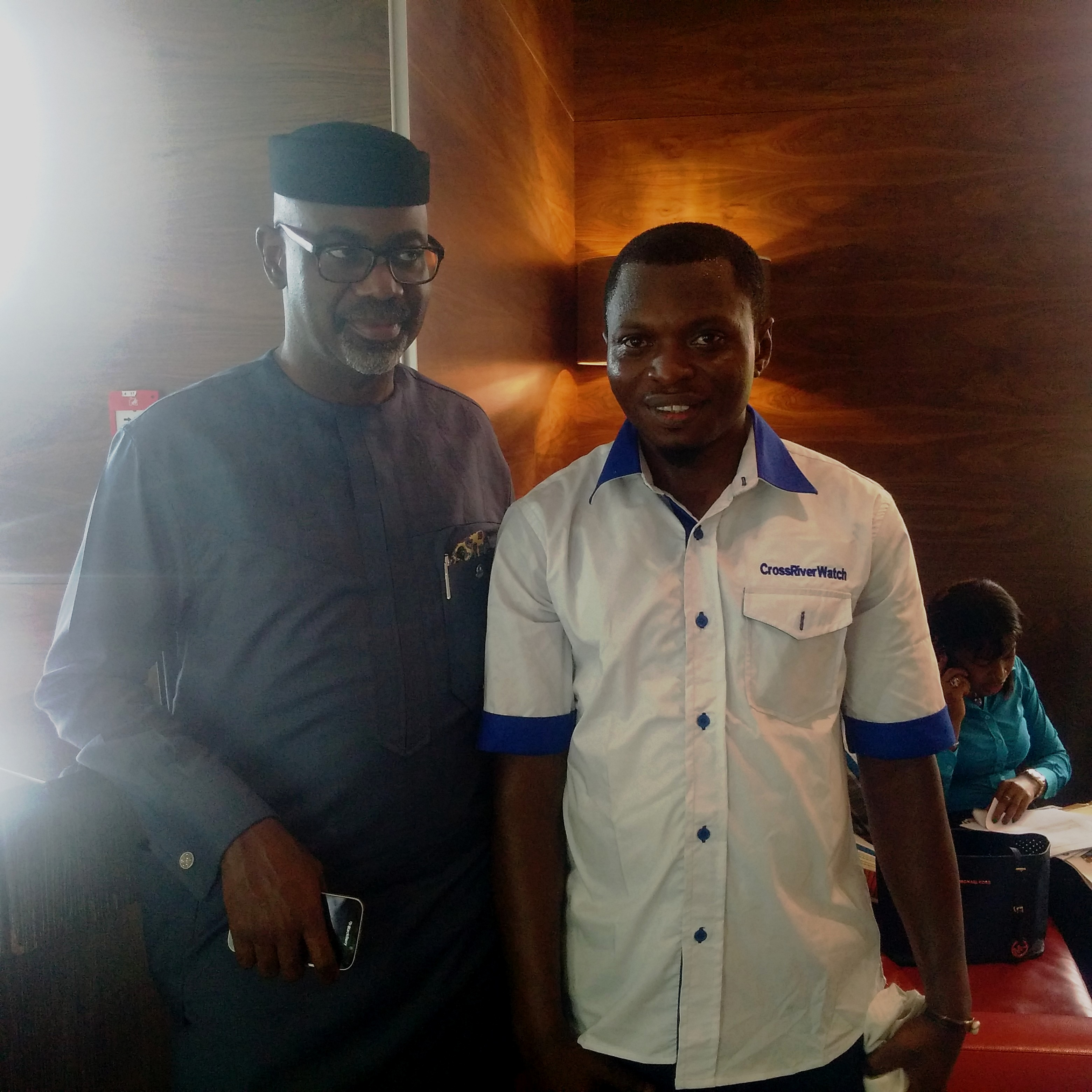 Governor Liyel Imoke and Publisher of CrossRiverWatch, Agba Jalingo after the chat