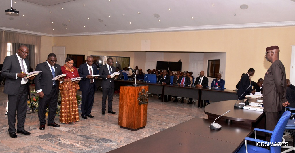 A section of the Special Advisers during the swearing in