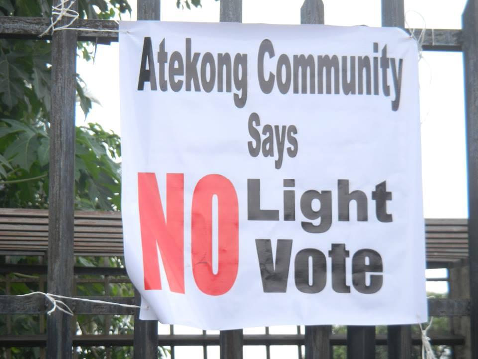no light no vote