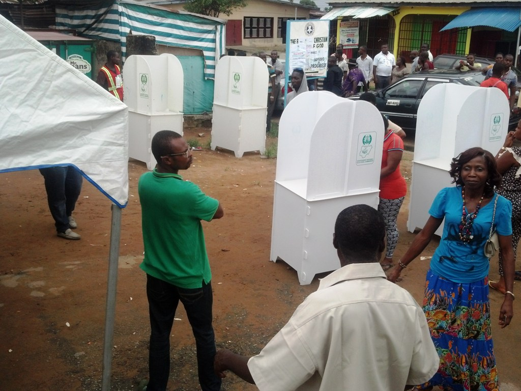 polling unit in Ward 12, Calabar south.