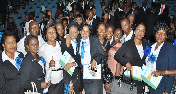 Some graduands from the Unical edc