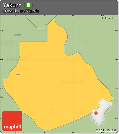 Yakurr LGA map