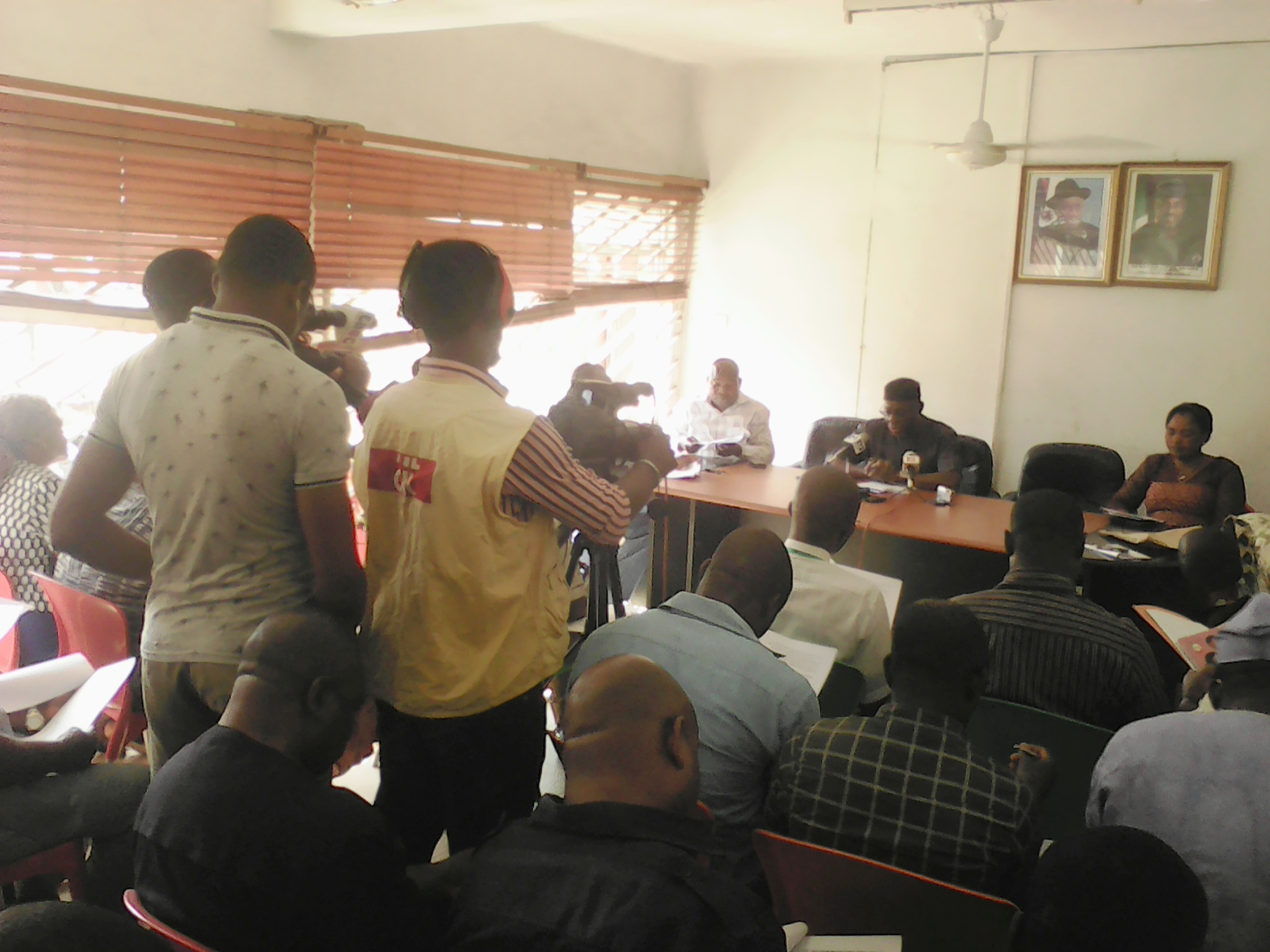 Cross section of journalists during the briefing by the state PDP chairman, Ntufam John Okon in Calabar