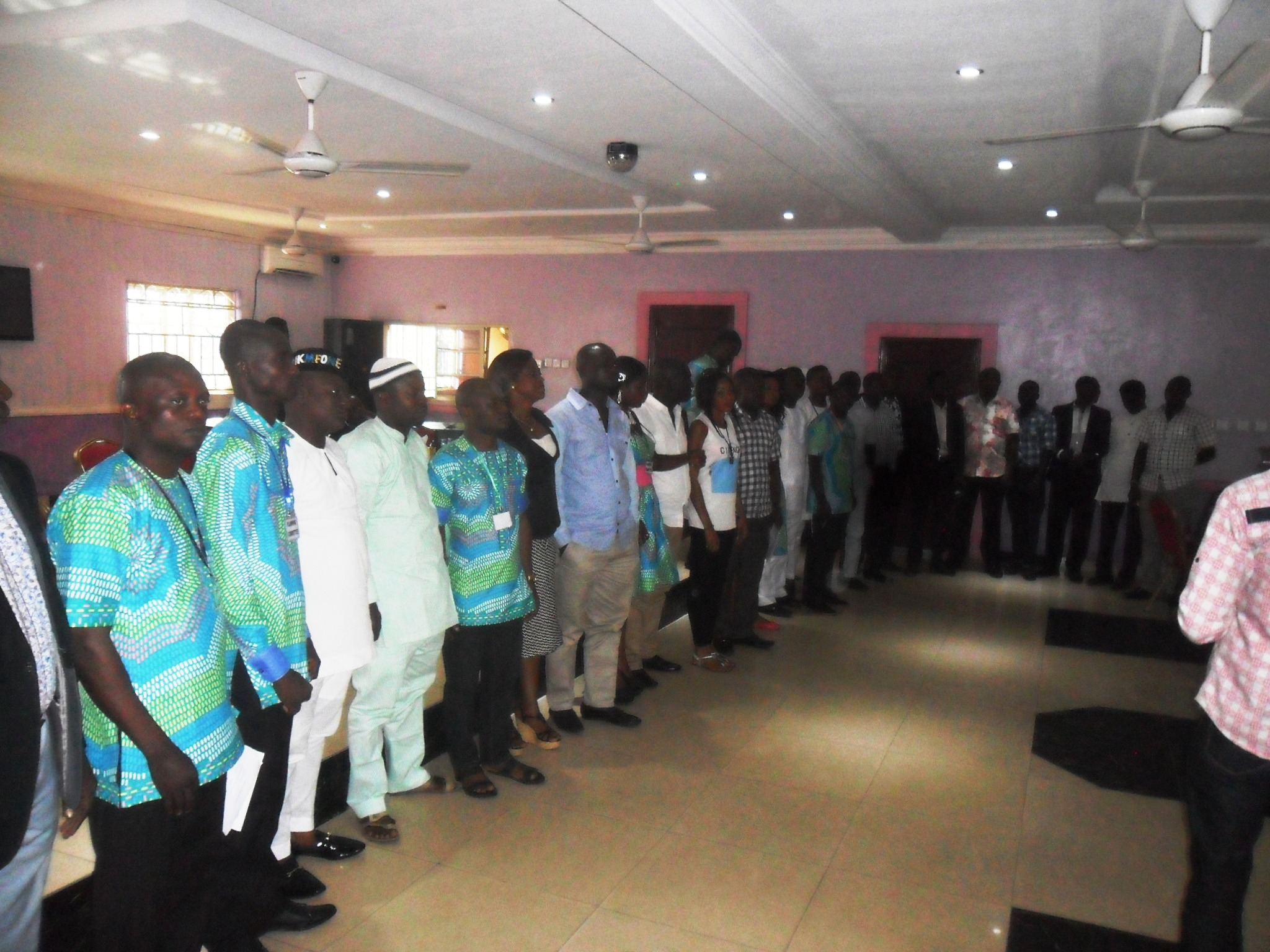 Cross section of the youth caucus members