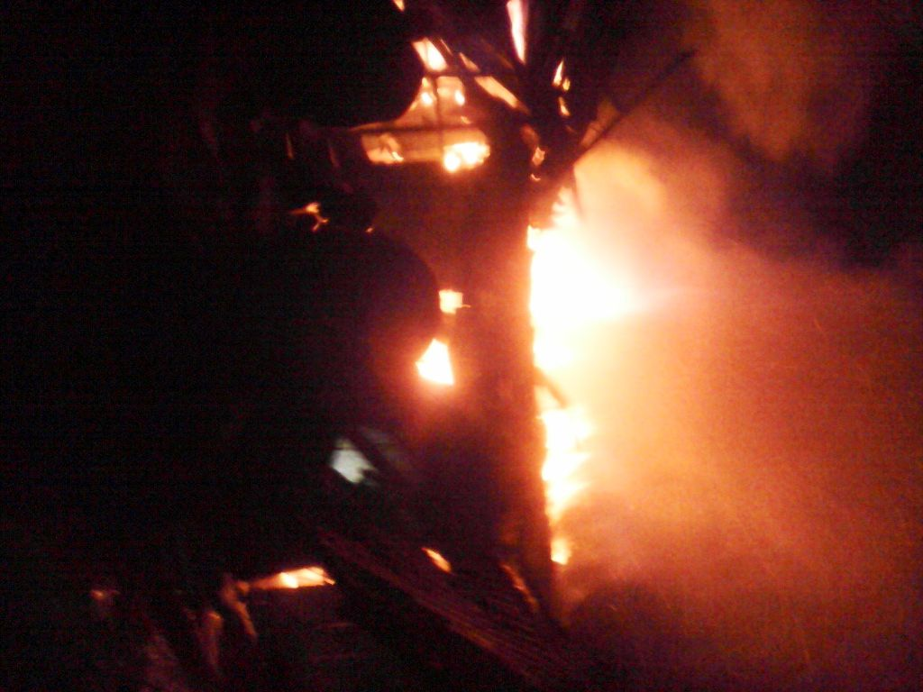 Ikang Market on fire this morning