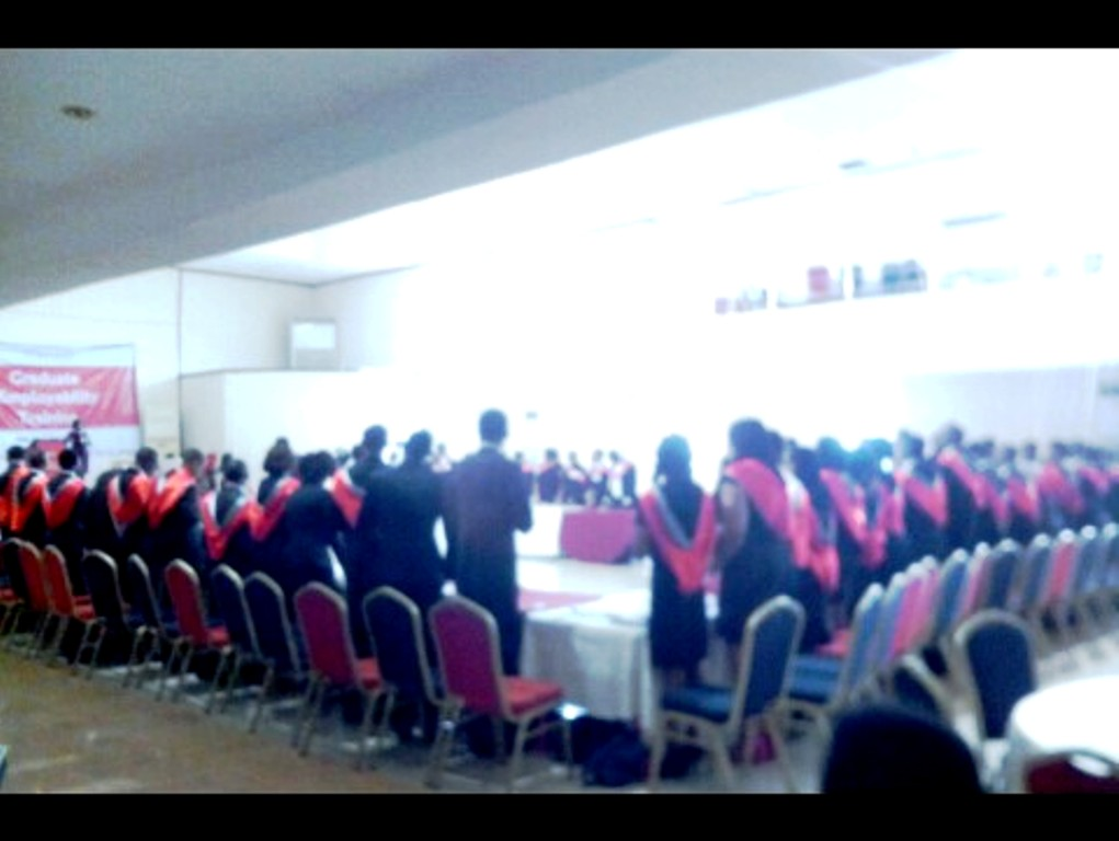 Cross section of graduants and guests at the event
