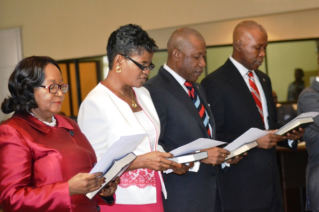 A cross section of the newly sworn-in Permanent Secretaries taking their oath of office in Calabar