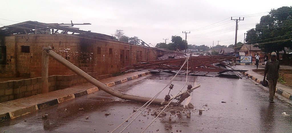St. Patricks Primary School affected by the storm