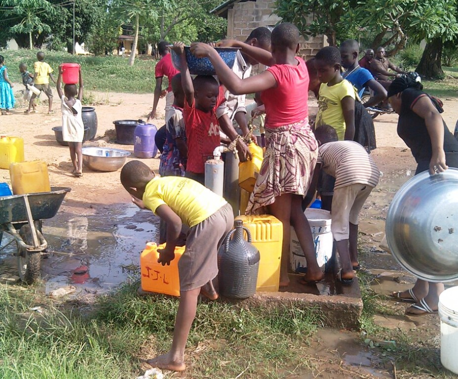 Residents now rely on boreholes to get water