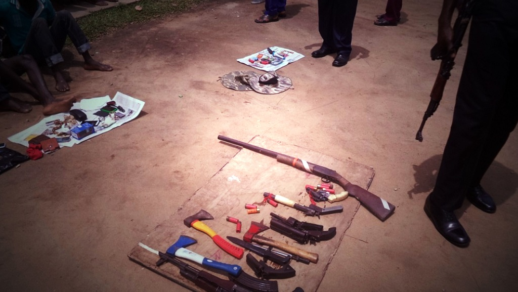 Weapons recovered from the suspects