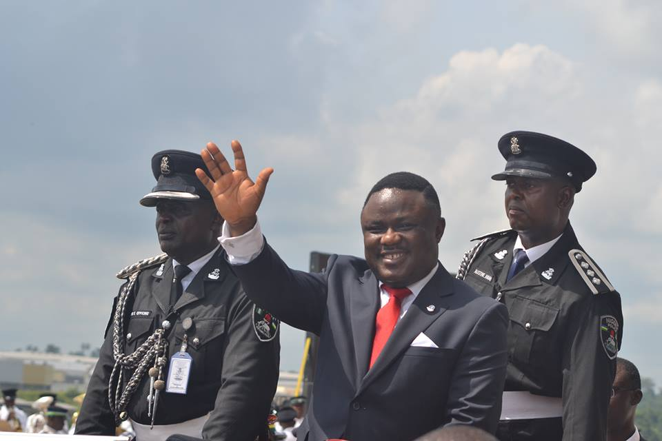 Governor Ben Ayade in the inaugural motorcade
