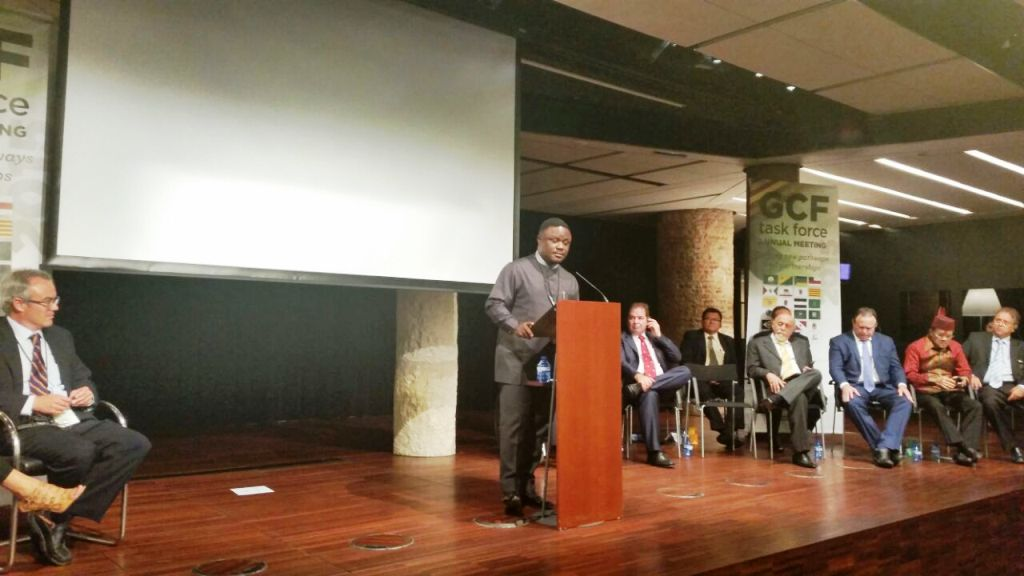 Governor Ben Ayade, speaking at the World Governors Forum on Climate Change in Barcelona Spain, yesterday