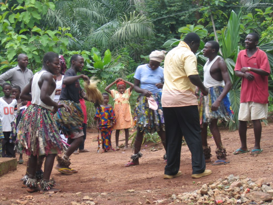 Cultural Dance of Bebuabie Village, a neighboring to Bebuagbong village