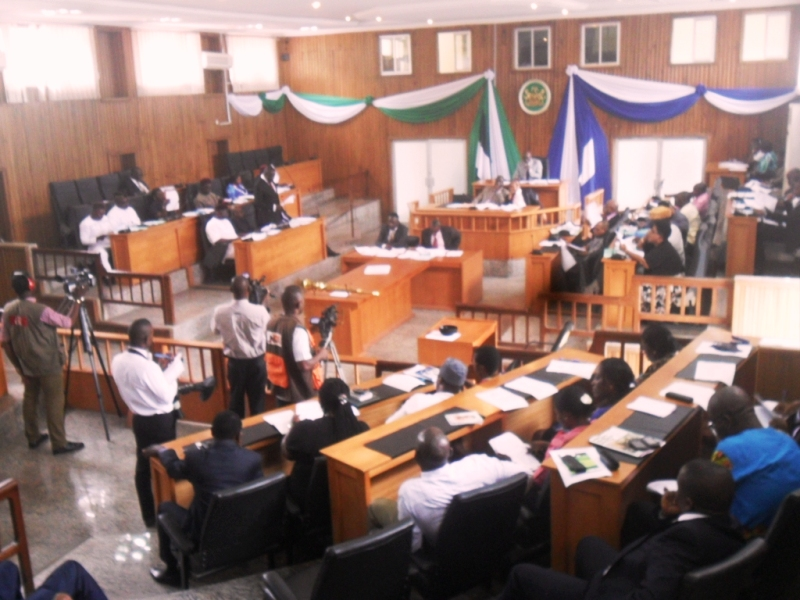 The House of Assembly in plenary yesterday
